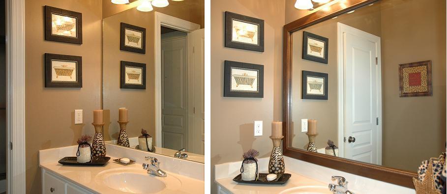 Bathroom Mirror Frame Remodel